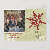 Peace & Joy Postcard