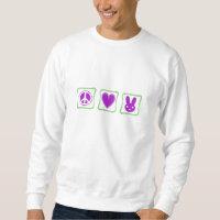 Peace Love Bunnies squares Sweatshirt