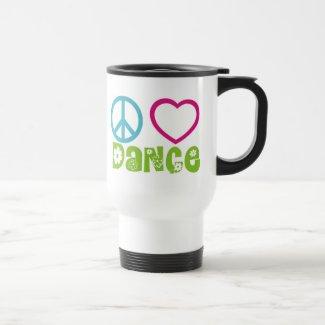 Peace Love Dance Coffee Mugs