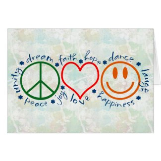 Peace Love Laugh Card