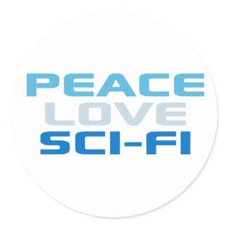 Peace Love Sci-Fi sticker