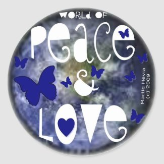 Peace & Love - Sticker