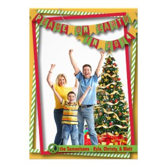 Peace on Earth Bright Photo Card
