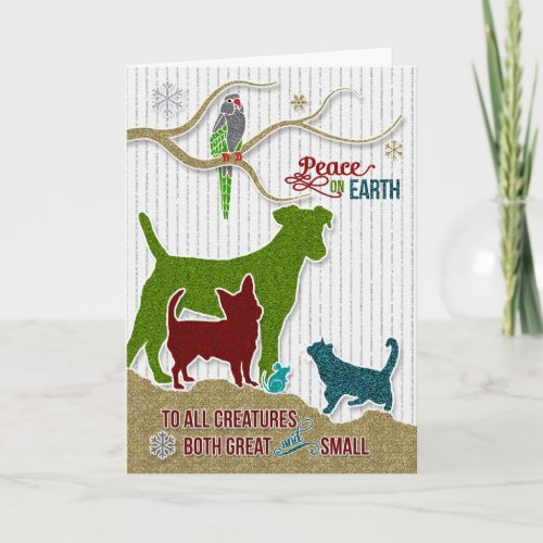 Peace on Earth Pet Lover Holiday Sticker Style