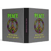 Peace Sign Binder