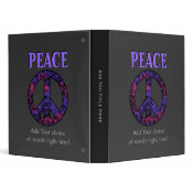 Peace Sign Binder