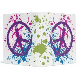 PEACE SIGN PAINT SPLATTER binder