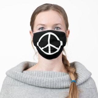 Peace Sign Symbol | Black Cloth Face Mask