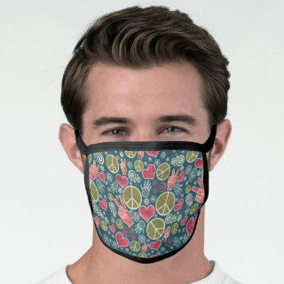 Peace Symbol Hipster Pacifism Sign Fashion Face Mask