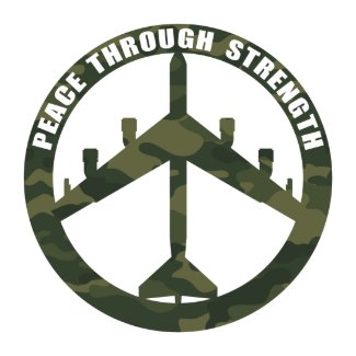 Peace Through Strength zazzle_button