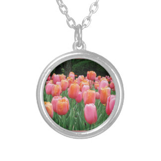 Peach and Pink Tulips Pendant