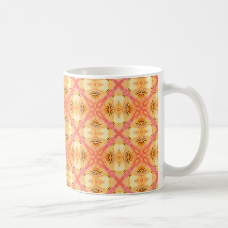 Peach Pineapple Abstract Circles Arches Coffee Mug