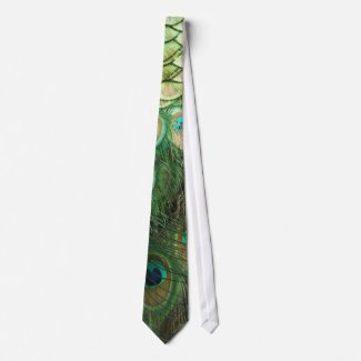Peacock Beauty - Tie tie