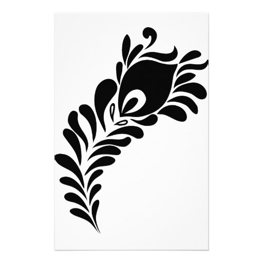 peacock feather silhouette stationery design zazzle