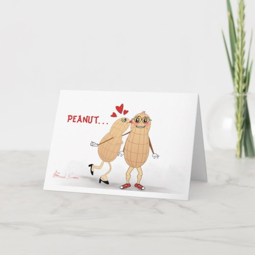 Peanut in Love - Funny greeting card. Holiday Card