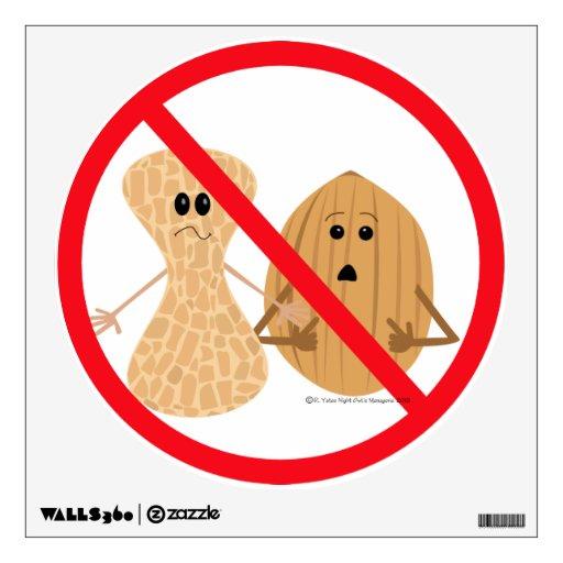 Peanut & Tree Nut Free Zone Food Allergy Print Wall Decor | Zazzle