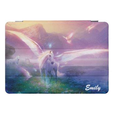 Pegasus Horse Lavender Mist Your Name iPad iPad Pro Cover