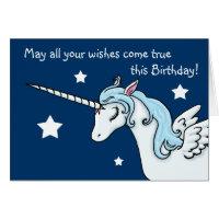 Pegasus Unicorn Wishes Birthday Card