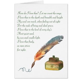 Pen and Ink Love Greeting Card