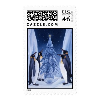 Penguins Christmas Stamp stamp