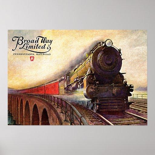 Pennsylvania Railroad Broadway Limited Poster Zazzle