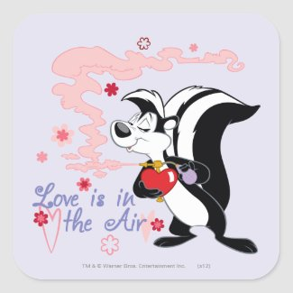 Pepe Le Pew Love is in the Air Square Sticker