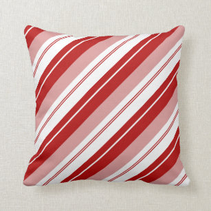 candy cane decorative throw pillows