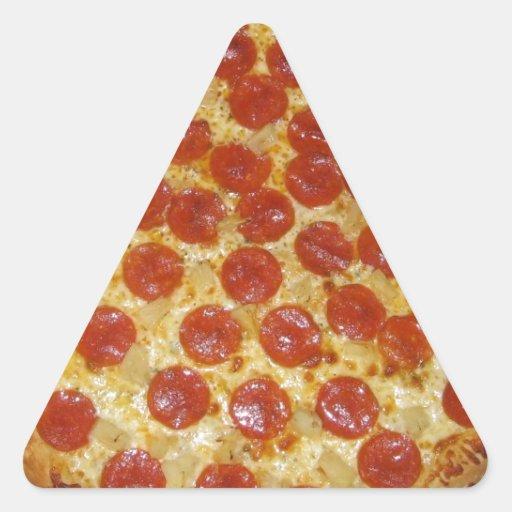pepperoni pizza triangle sticker zazzle