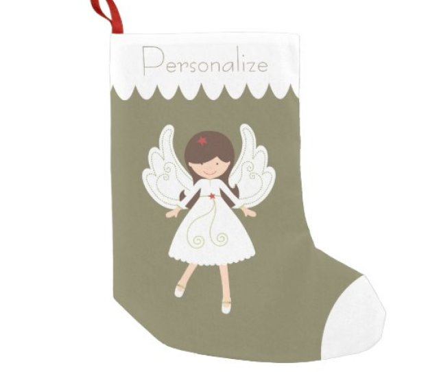 Personalize Christmas Angel For Little Girls Small Christmas Stocking