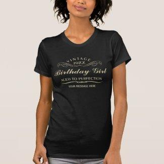 Personalize Funny Birthday Tshirt
