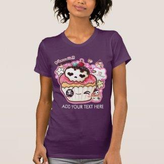 Personalize kawaii cute skull cupacke tee shirts