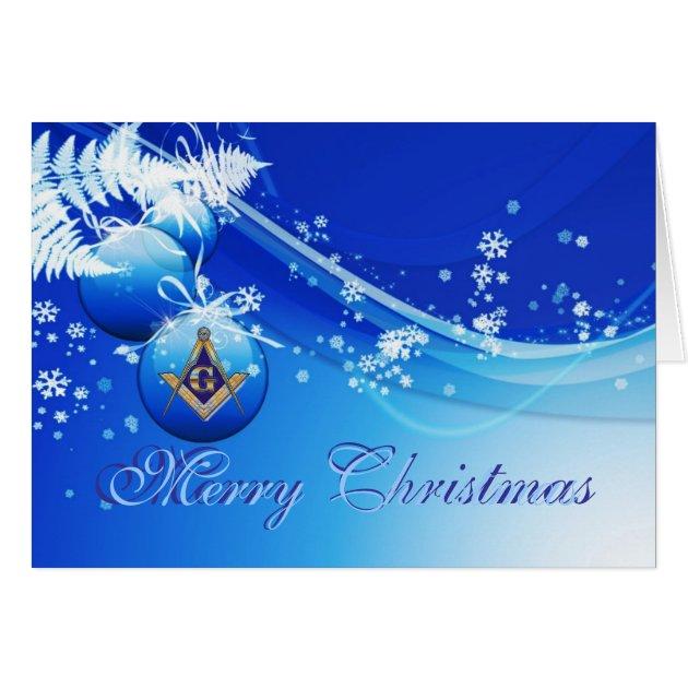 Personalize Masonic Christmas Greetings Card Zazzle
