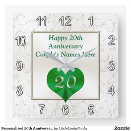 Personalized 20th Anniversary Gifts, 20th Birthday