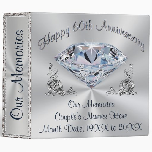 Personalized 60th Wedding Anniversary Photo Album 3 Ring Binder