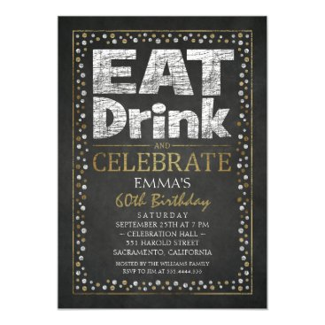Personalized Adult 60th Birthday Party Invitations