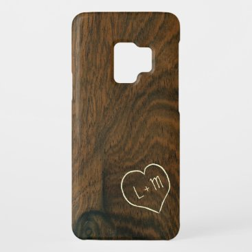Personalized Aged Mahogany Wood Texture Case-Mate Samsung Galaxy S9 Case