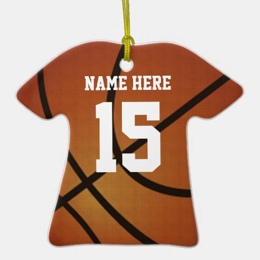 basketball jersey christmas ornament