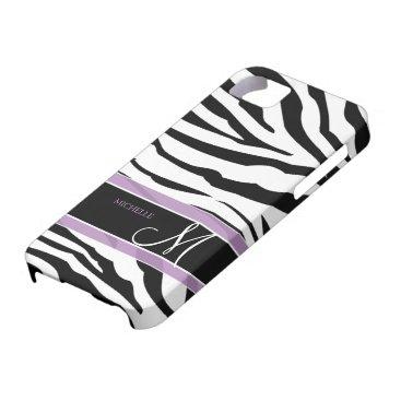 Personalized Black and White Zebra Stripes iPhone SE/5/5s Case
