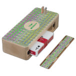 Personalized Colorful Pastel Zigzag Pattern Maple Cribbage Board