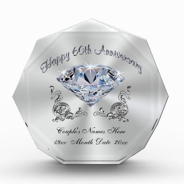 Personalized Diamond Anniversary Gift Ideas, 60th