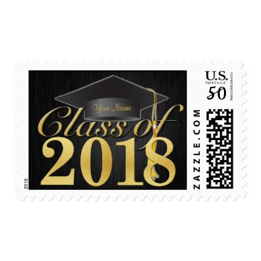 Personalized Elegant Class of 2018 Graduation Postage