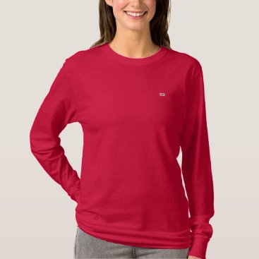 Personalized Embroidered Initials Embroidered Long Sleeve T-Shirt