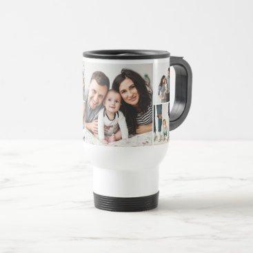 Personalized Family 7 Photo Collage Travel Mug