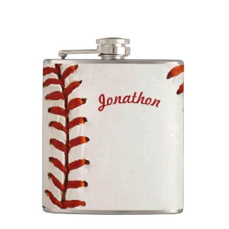 Personalized Flask Baseball