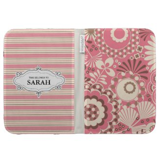 Personalized Floral Caseable Kindle Case Cover