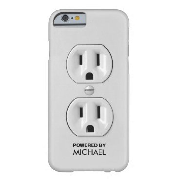 Personalized Funny Power Outlet Barely There iPhone 6 Case
