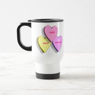 Personalized Heart Candy Travel MugTemplate mug