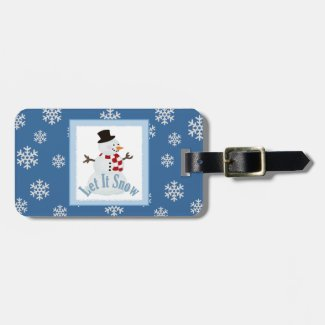 Personalized: Let It Snow Luggage Tag