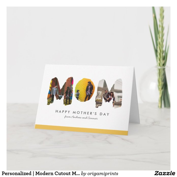 Personalized | Modern Cutout Mother's Day Card