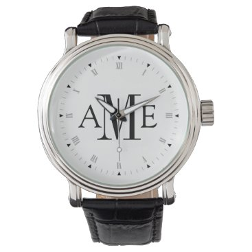Personalized Monogram Wrist Watch